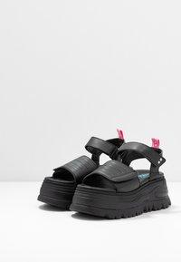 Coolway - GRAVITY - Platform sandals - black - 4