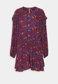 FLOWER FIELDS MINI - Day dress - burgundy combo