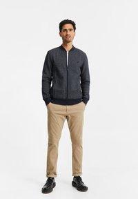 WE Fashion - Felpa aperta - greyish blue - 1