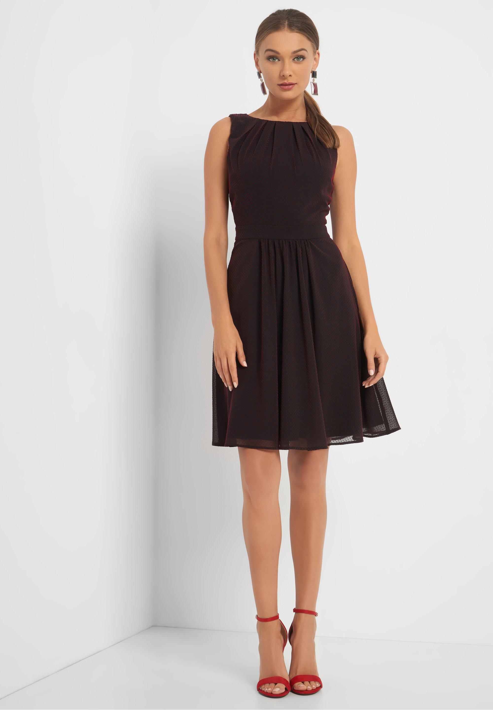 Orsay Mit Punkten Cocktailkleid Festliches Kleid Black Schwarz Zalando De