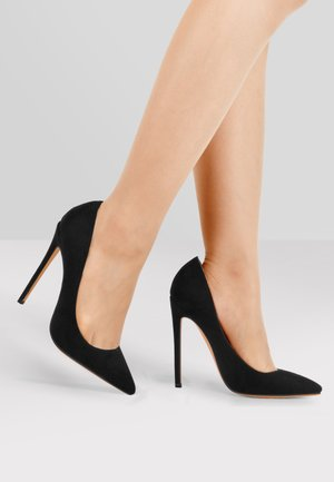 High heels - mottled black