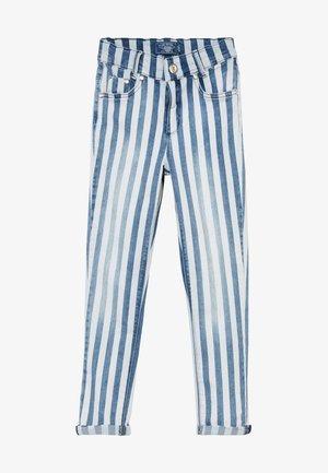 GIRLS HIGH WAIST CROPPED - Jeansy Skinny Fit - blau/weiß