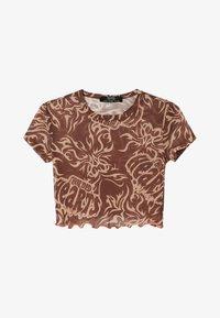 Bershka - SHORT SLEEVE - Print T-shirt - brown - 4