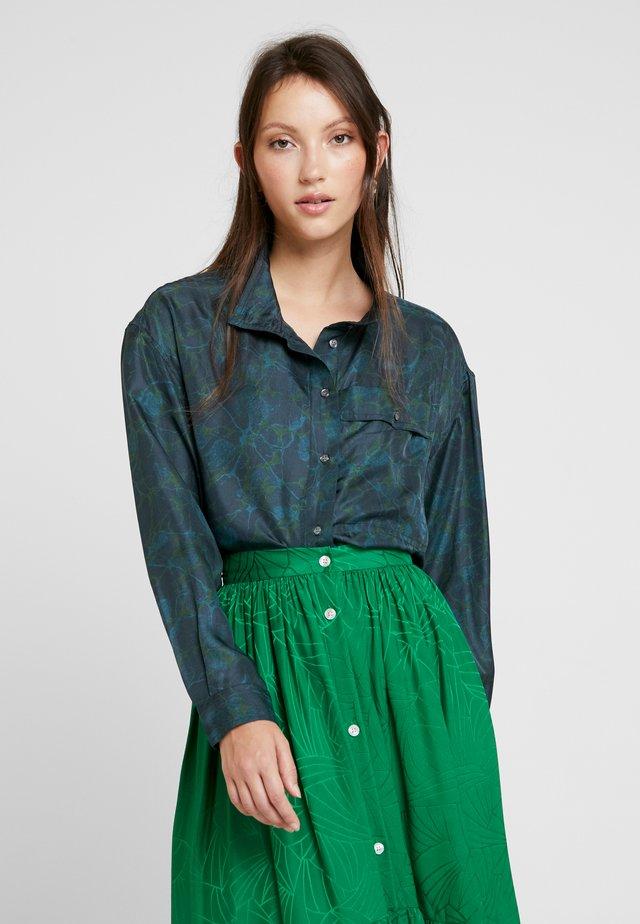 EDNA - Button-down blouse - ardoise