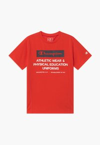 Champion - CHAMPION X ZALANDO BOYS PERFORMANCE TEE - T-shirt z nadrukiem - red - 0