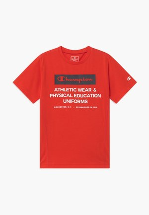 CHAMPION X ZALANDO BOYS PERFORMANCE TEE - T-shirt print - red