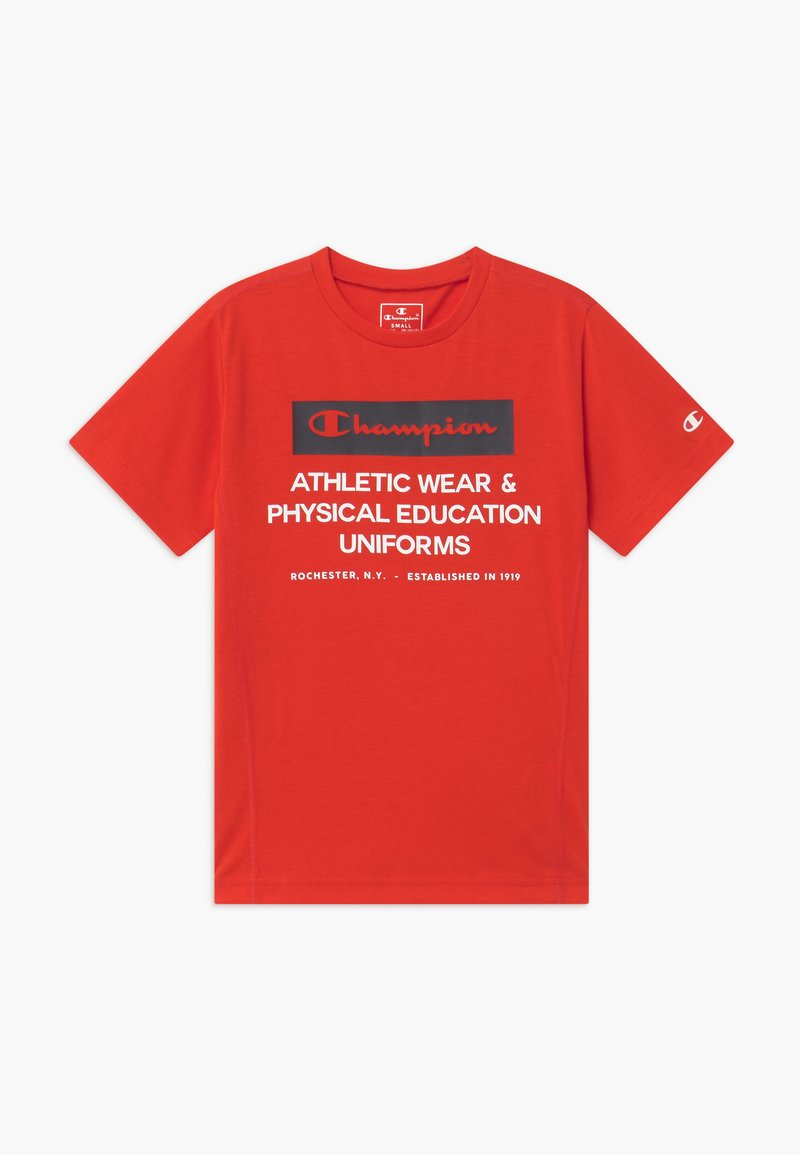 Champion - CHAMPION X ZALANDO BOYS PERFORMANCE TEE - T-shirt z nadrukiem - red
