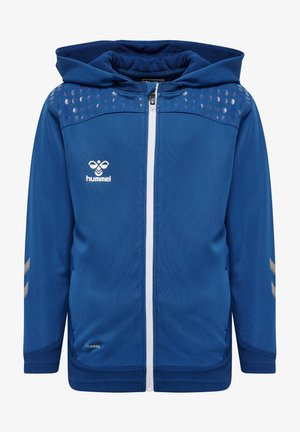 Zip-up hoodie - true blue
