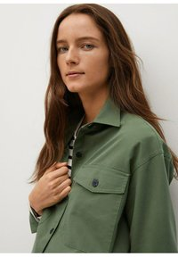 Mango - Button-down blouse - khaki - 4