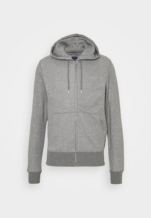 THE ORIGINAL FULL ZIP HOODIE - Mikina na zip - dark grey melange