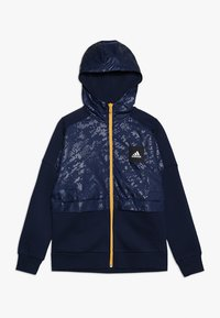 adidas Performance - ID COVER UP - Mikina na zip - collegiate navy/gold - 0