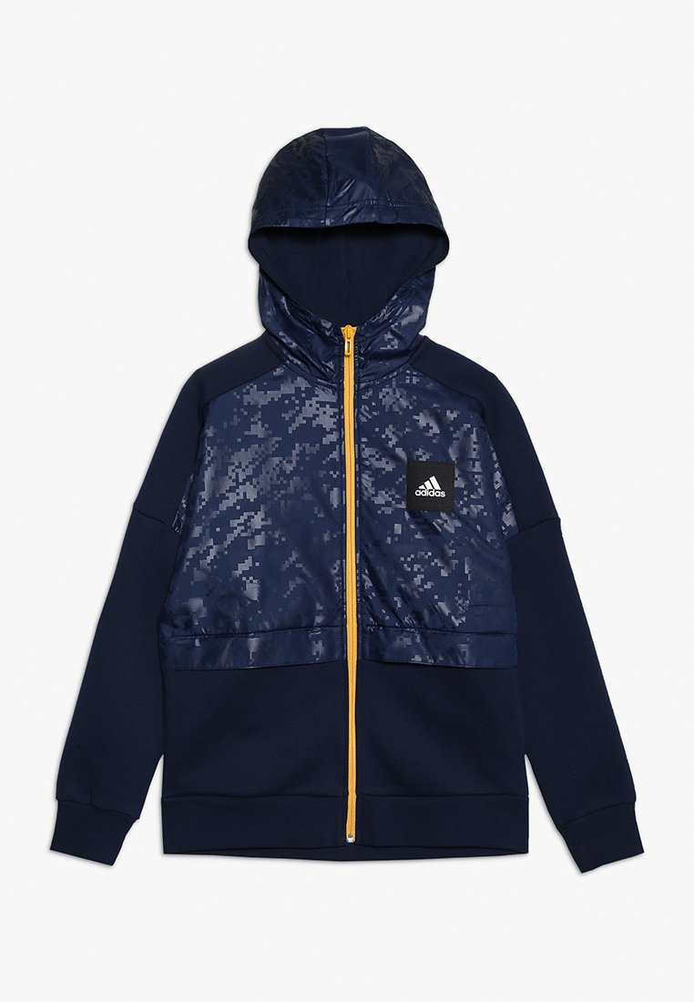 adidas Performance - ID COVER UP - Mikina na zip - collegiate navy/gold
