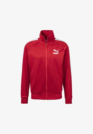 PUMA ICONIC T7 MEN'S TRACK JACKET MALE - Giacca sportiva - high risk red