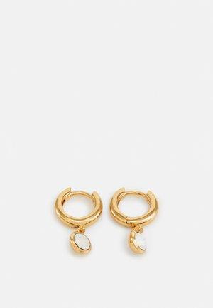 HUGGIE HOOPS - Earrings - pale gold-coloured