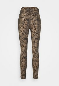 Vero Moda - VMAUGUSTA SNAKE PANTS - Trousers - nude - 1