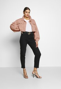 Missguided - BALLOON SLEEVE SHACKET - Denim jacket - blush - 1
