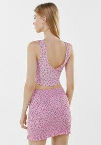 Bershka - Mini skirt - pink - 2