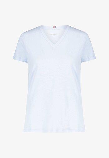 NEW VNECK TEE - T-shirts - blue