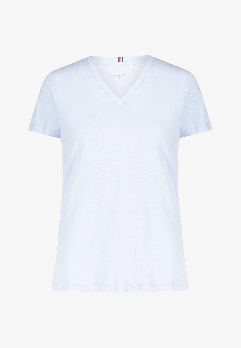 Tommy Hilfiger - NEW VNECK TEE - T-shirts basic - blue