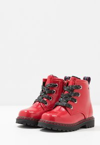 TOM TAILOR - Lace-up ankle boots - red - 3