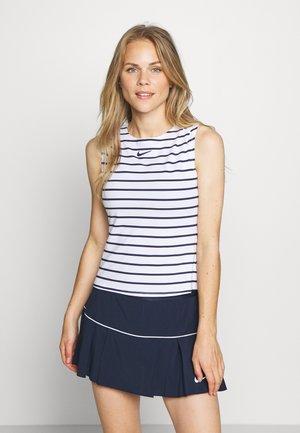 MARIA DRY TANK - Treningsskjorter - white/blackened blue