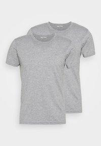 LTB - 2 PACK  - Basic T-shirt - grey mel/grey mel - 0
