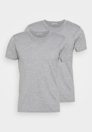 2 PACK  - T-shirt basic - grey mel/grey mel
