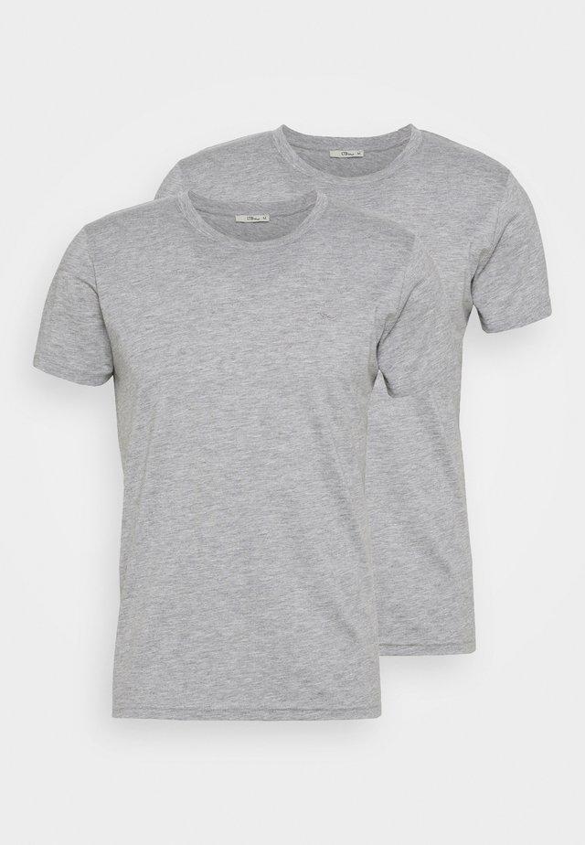 2 PACK  - T-shirt basic - grey mel/grey mel