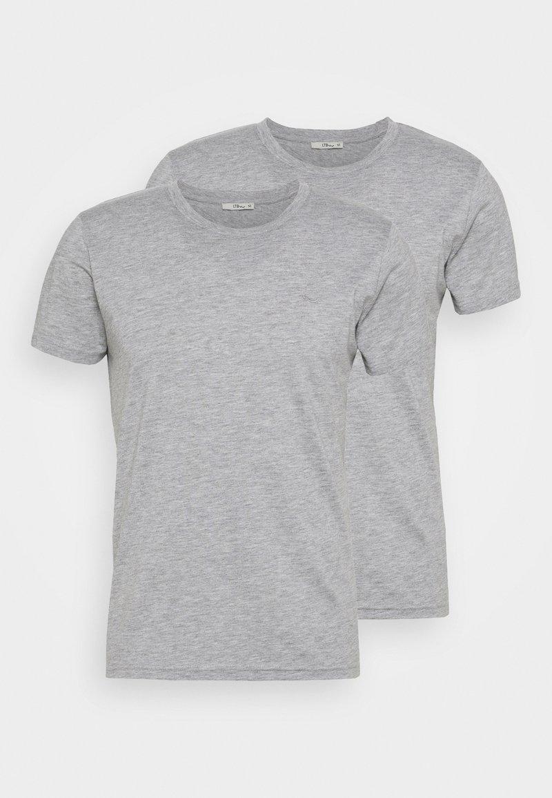 LTB - 2 PACK  - Basic T-shirt - grey mel/grey mel