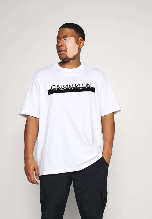 SPLIT LOGO - T-shirt imprimé - white