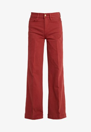 LE PALAZZO WIDE HEM PANT - Jeans relaxed fit - fired brick