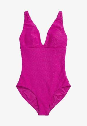 Swimsuit - mottled berry