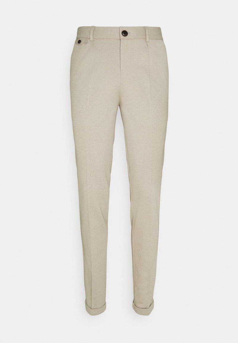 Jack & Jones PREMIUM - JJIMARCO JOHN MELANGENOR - Trousers - beige