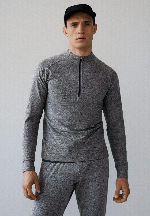 FITTY-I - Long sleeved top - mittelgrau meliert