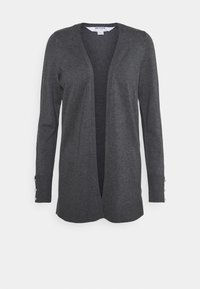 Dorothy Perkins Petite - LONGLINE BUTTON CUFF CARDIGAN - Cardigan - charcoal - 0