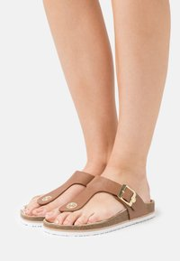 TOM TAILOR - T-bar sandals - camel - 0