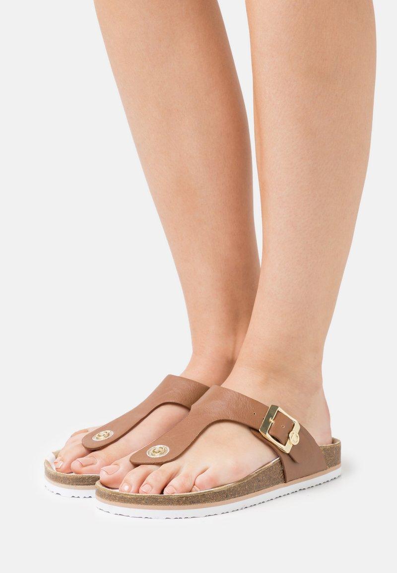TOM TAILOR - T-bar sandals - camel