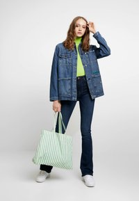 ONLY - ONLPAOLA - Flared jeans - dark blue denim - 1