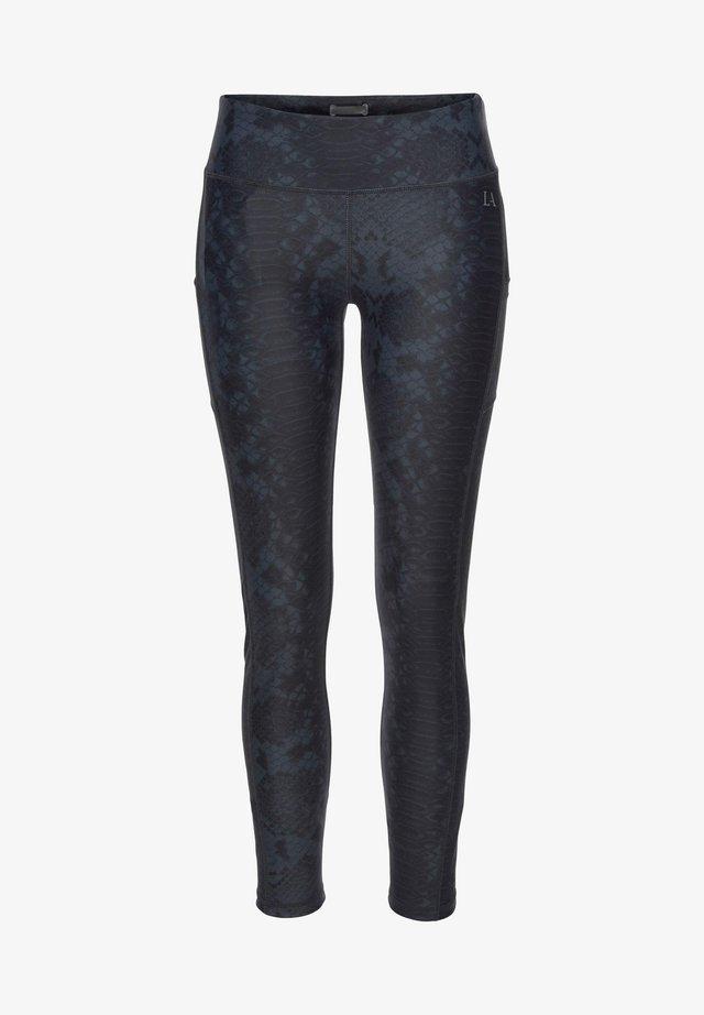 Legging - schwarz-gemustert