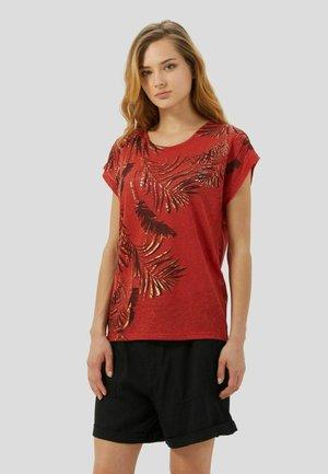 KIMONO SLEEES - T-shirt con stampa - rosso scuro