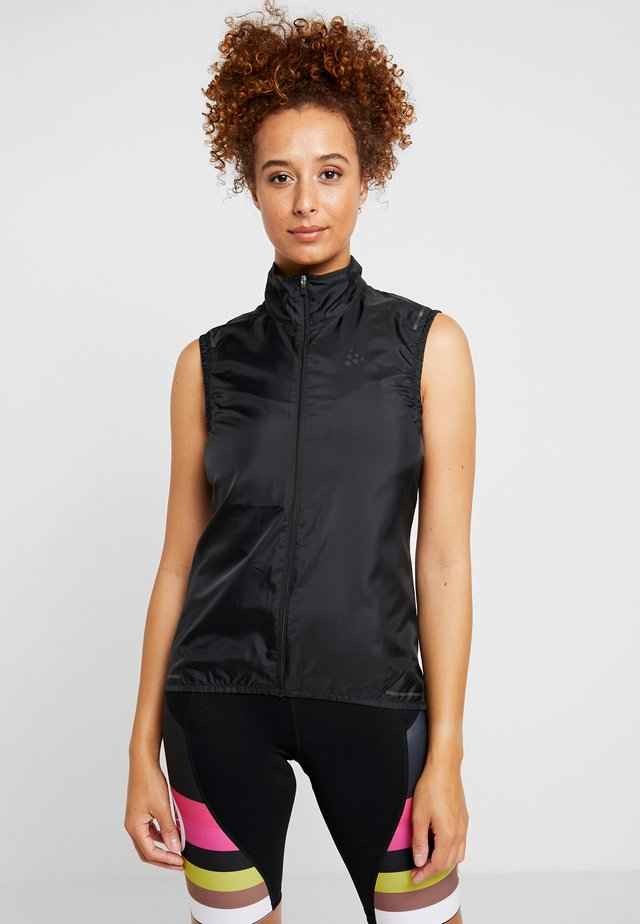 ESSENCE LIGHT WIND VEST - Liivi - black
