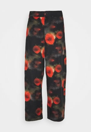 KEY PANTS ARTIST PRINT - Trousers - black