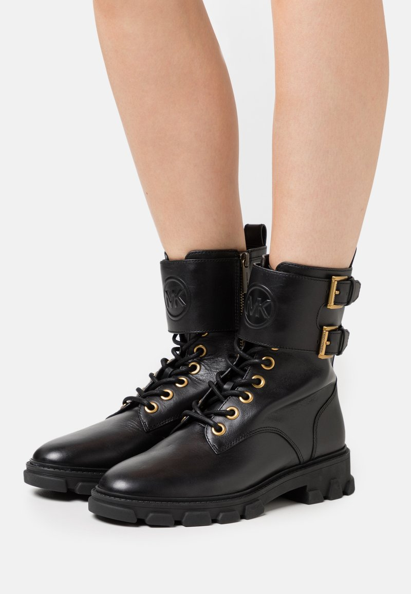 MICHAEL Michael Kors - RIDLEY BOOT - Lace-up ankle boots - black