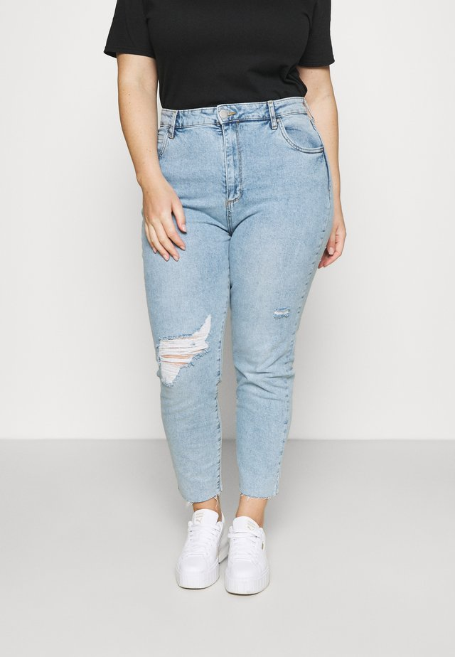 TAYLOR MOM - Jeansy Slim Fit - aireys blue rip