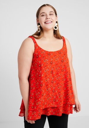 DITSY FLORAL DOUBLE LAYER CAMI - Blouse - red