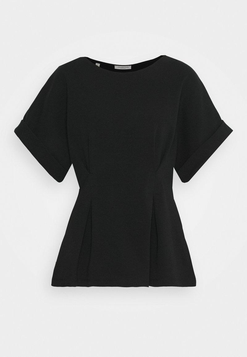 Selected Femme - SLFCLEO TEE - Basic T-shirt - black