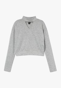 New Look 915 Generation - BRUSHED CHOKER JUMPER - Svetr - mid grey - 0