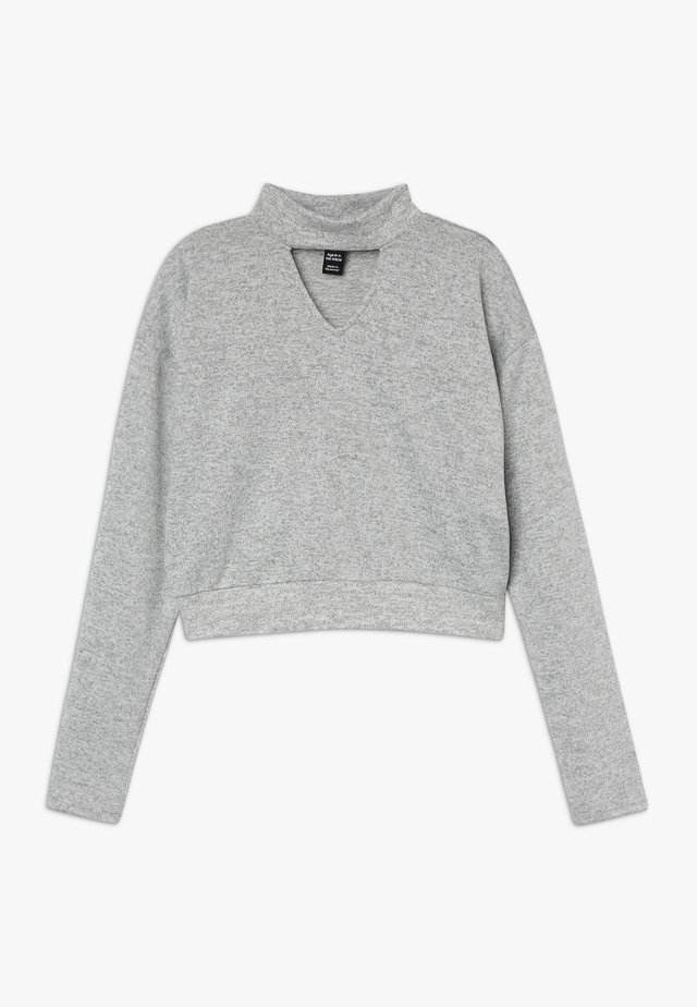 BRUSHED CHOKER JUMPER - Pullover - mid grey
