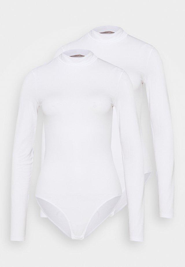 LAURA  2PP HIGH NECK BODIES  - Body - white