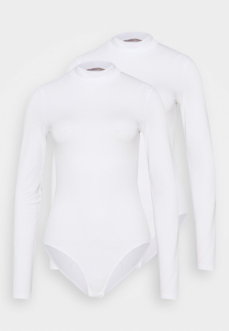 Anna Field - LAURA  2PP HIGH NECK BODIES  - Body - white